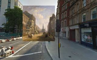 a reddit user shows how london has transformed using old paintings and google street view